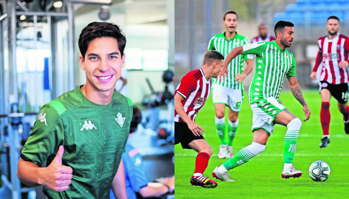 Diego Lainez destaca en amistoso del Real Betis ante Sheffield United