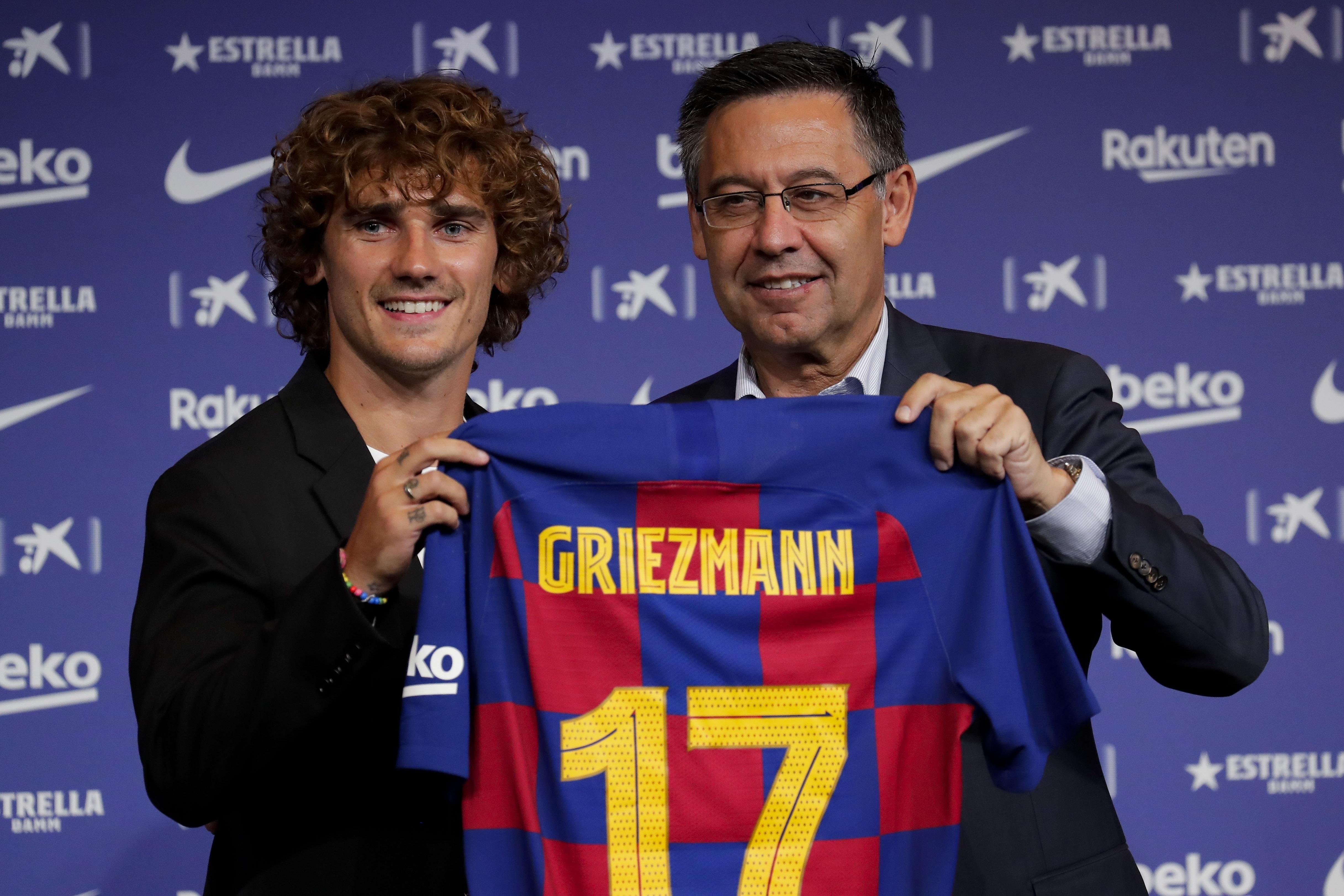 Griezmann es presentado en el Barcelona