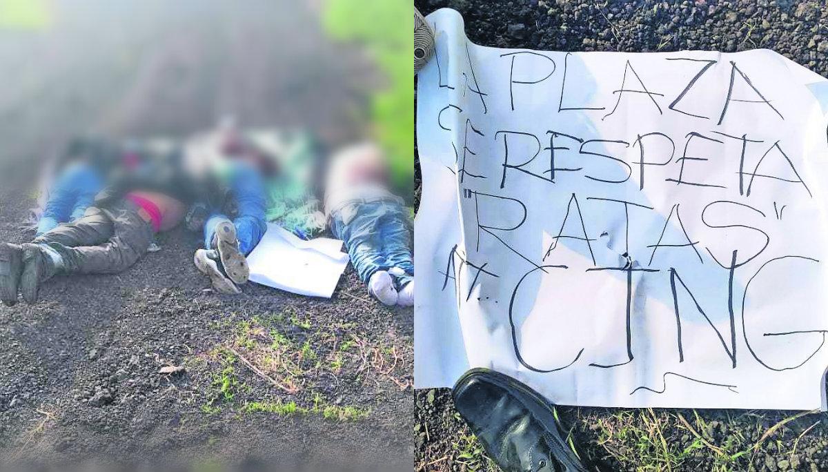 hallan cadáveres cuatro muertos hombres torturados asesinados ajuste de cuentas narcomensaje amenaza maniatados Chalco