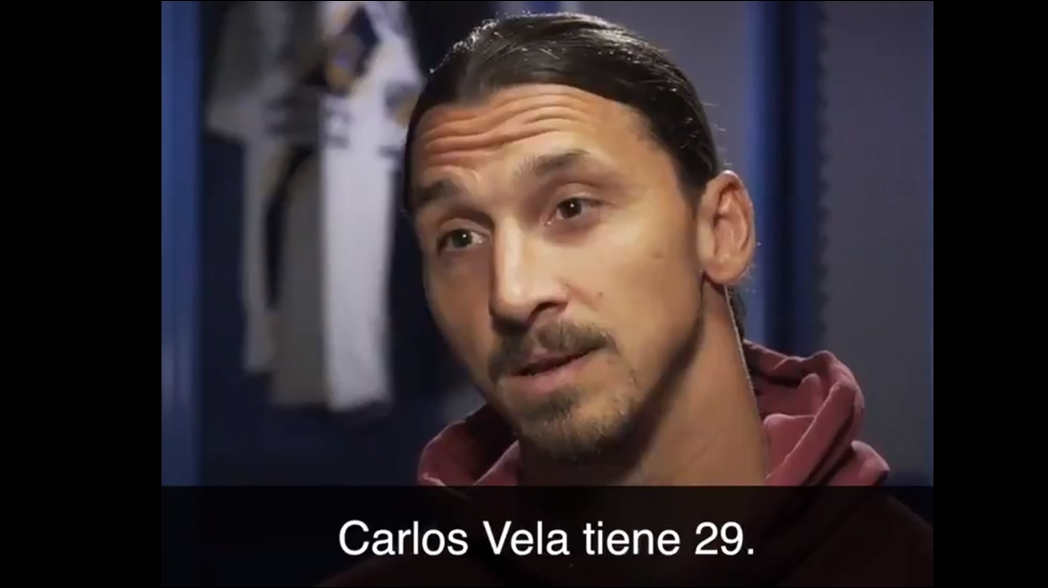 Zlatan Ibrahimovic menosprecia el momento de Carlos Vela