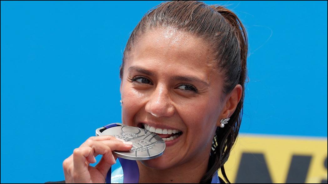 Adriana Jiménez gana plata en Mundial de Natación