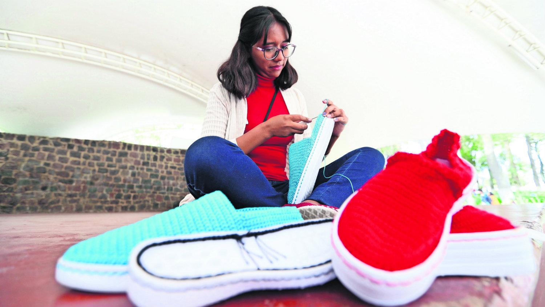 Zapatos amigables estudiantes Anika Isabel Reyes Cruz Bowi Nori nylon