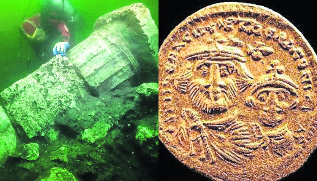 Buzos arqueólogos encuentran templo griego en la Atlántida egipcia