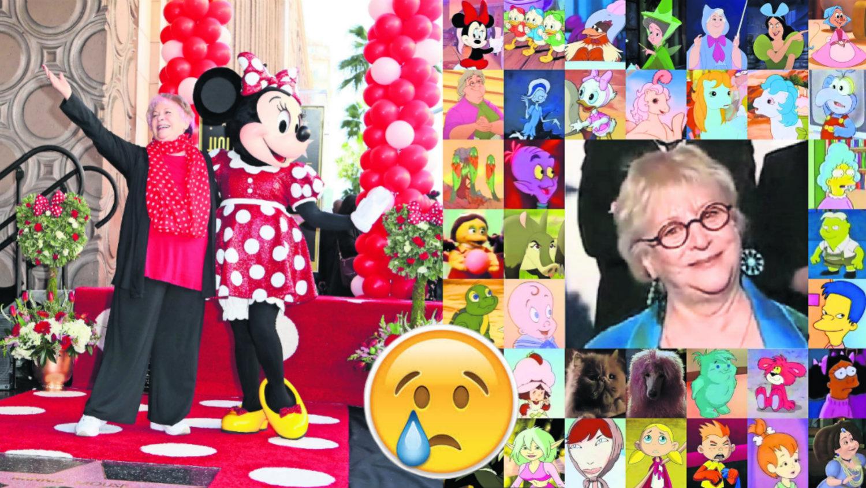 Russi Taylor Minnie Mosue actriz Simpson Walt Disney Wayne Alliwine falleció
