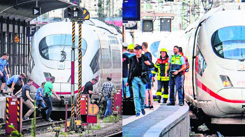 Fráncfort Alemania tren bala ICE arrollán niño arrojan hombre africano