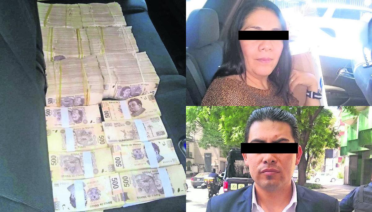 Detienen en CDMX a presuntos colaboradores de Osorio Chong traían 3.3 millones de pesos