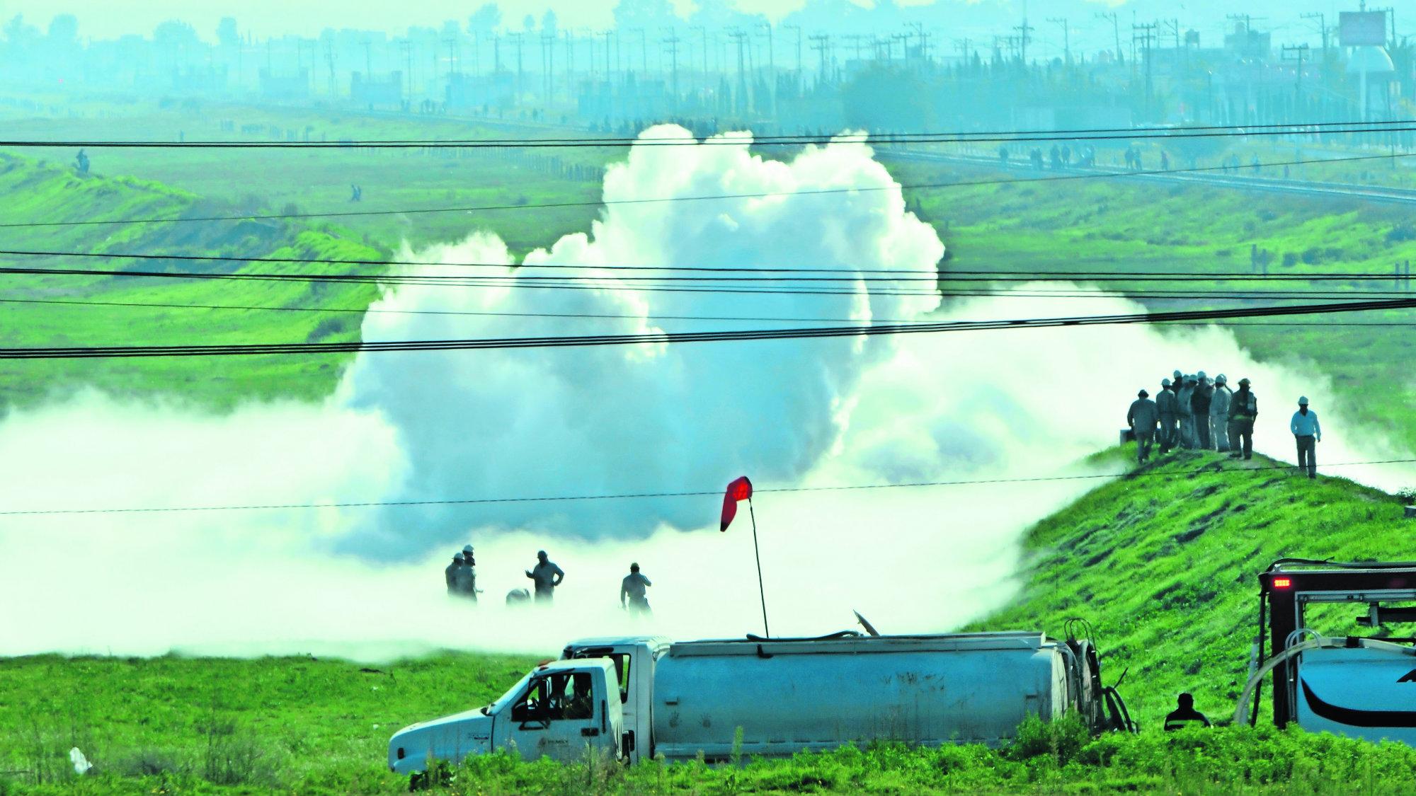Fuga de gas en Nextlalpan fue causada por huachicoleros que buscaban gasolina