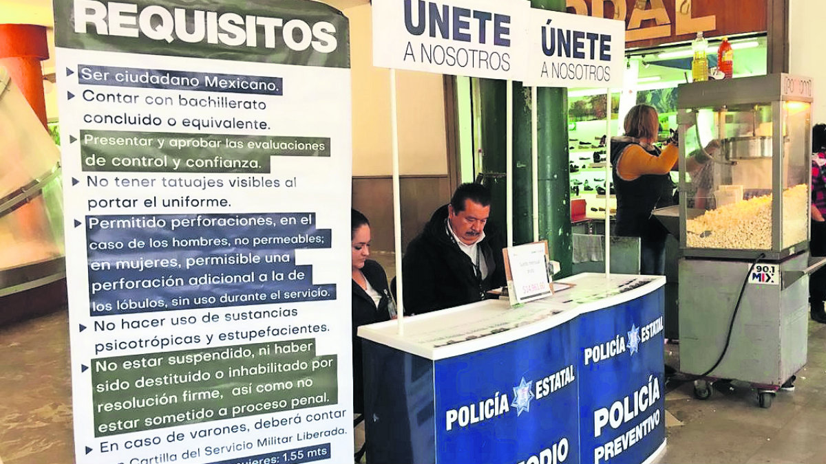 módulos reclutamiento convocatoria policías custodios sin respuesta toluca