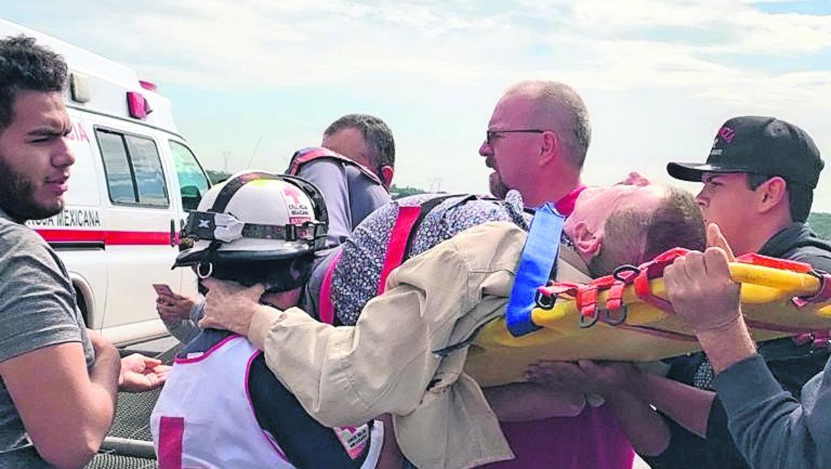 Hospitalizan a Germán Lizárraga tras accidente en carretera Arco de Tula