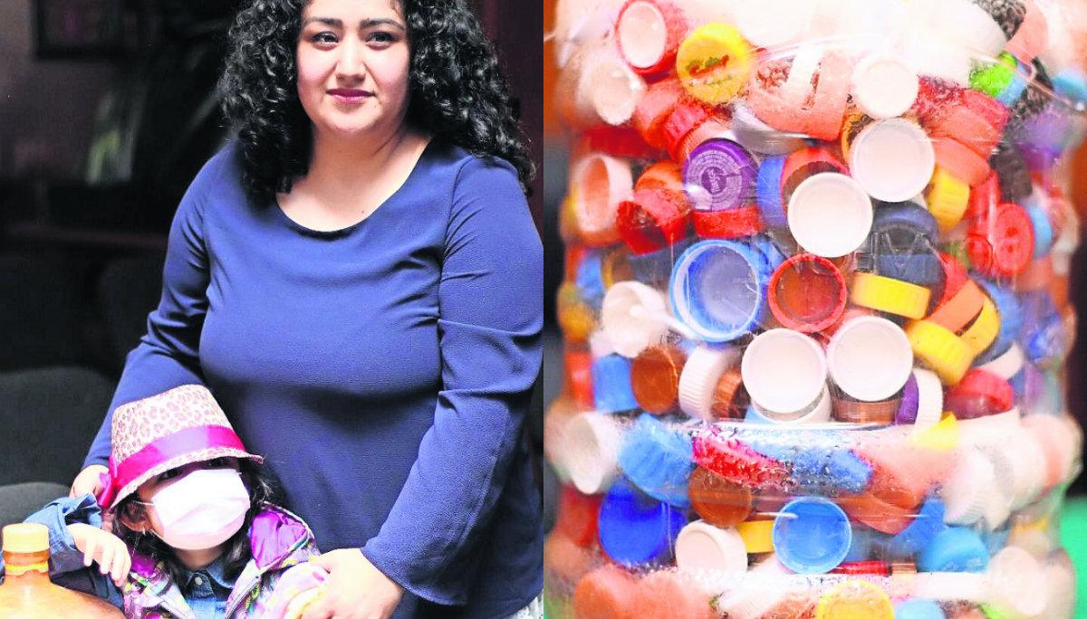 campaña tapas de plástico botellas recolección reciclaje ayuda niños tratamiento cáncer toluca una tapa una vida