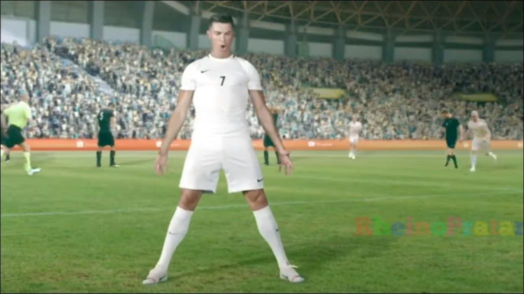 Cristiano Ronaldo y su gracioso baile en un comercial