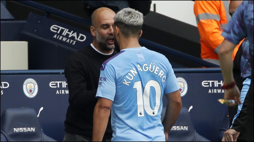 El 'Kun' Agüero encaró a Pep Guardiola por sacarlo de la cancha