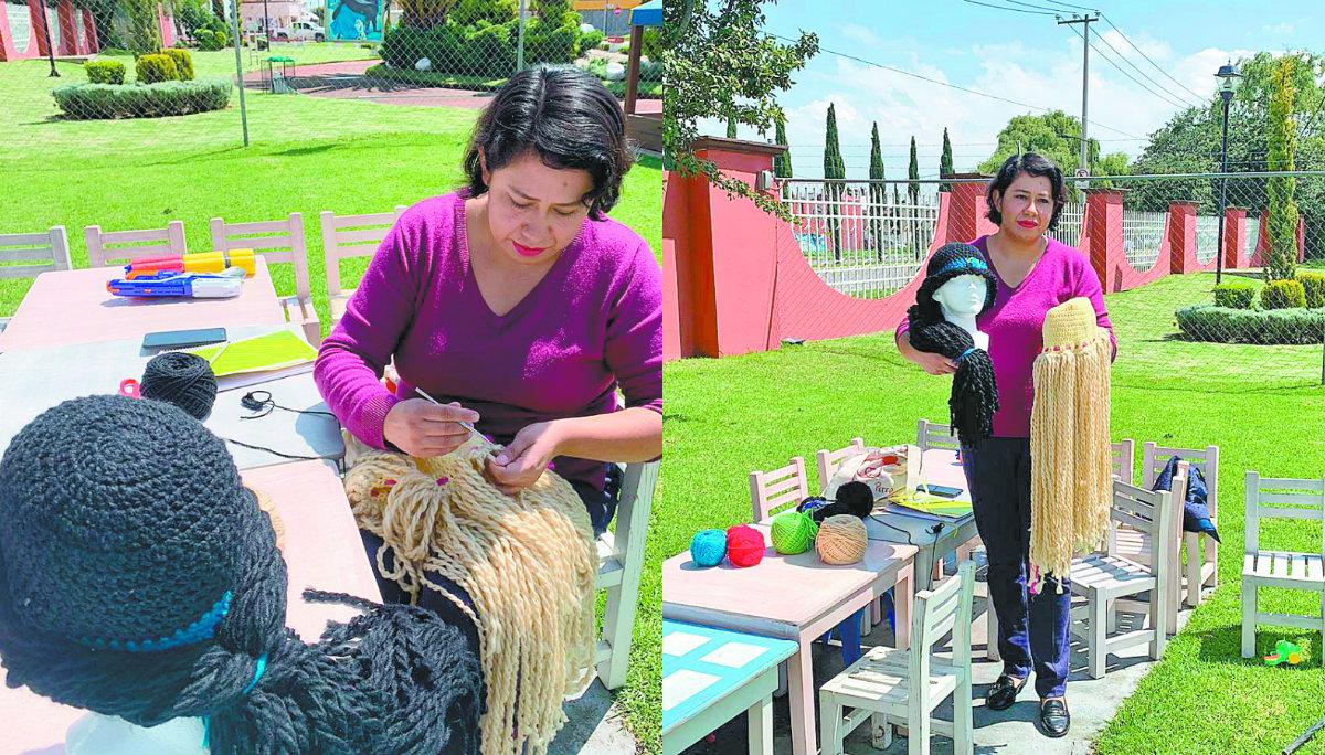 pelucas gorros tejidos niños cáncer toluca fundación
