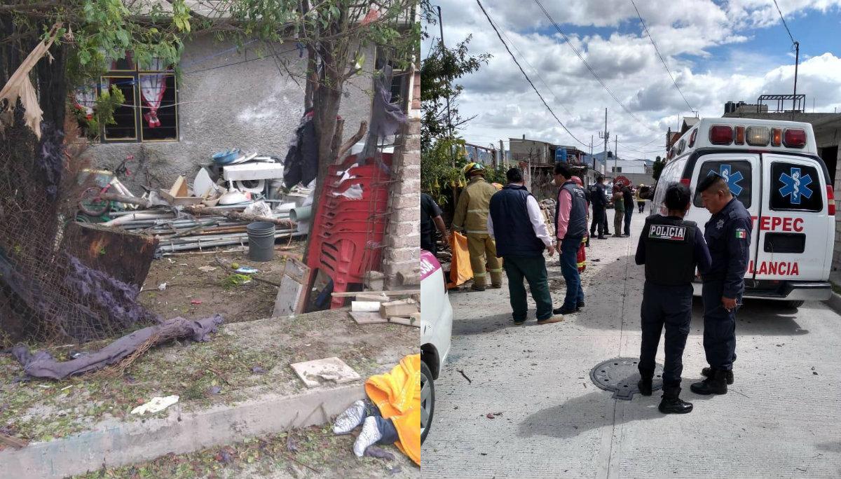 Muere mujer tras explosión de material pirotécnico en Tultepec