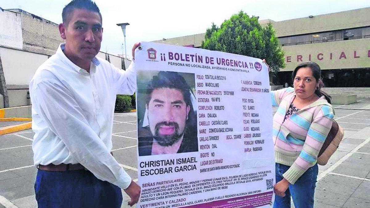 familiares buscan Christian Ismael Escobar García desaparecido ocoyoacac morgue semefo no pierden la fe