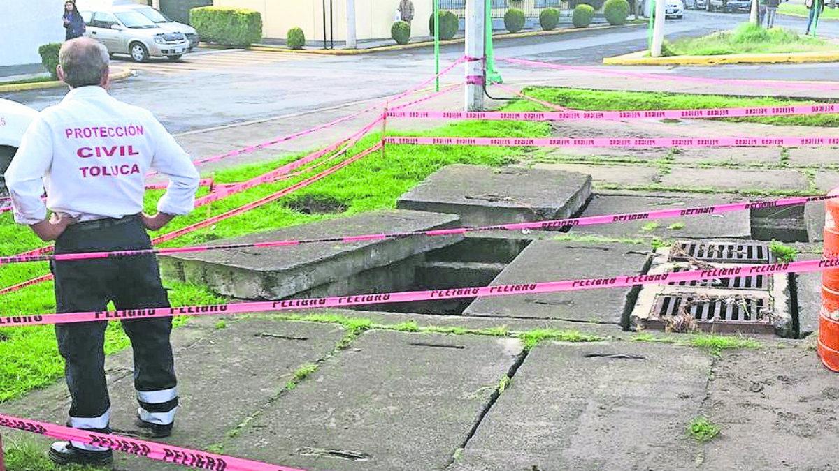 riesgo peligran peatones zona de riesgo puntos rojos protección civil conagua fracturado grietas vecinos río verdiguel
