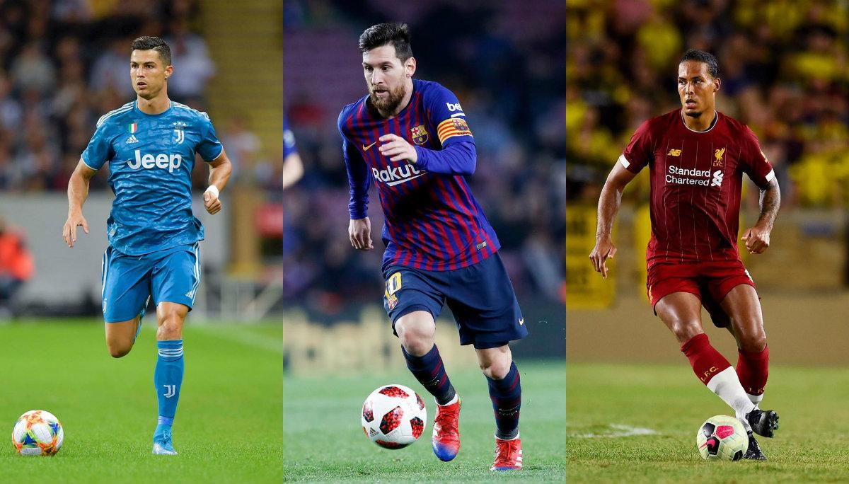 Cristiano Ronaldo Leo Messi y Virgil Van Dijk The Best