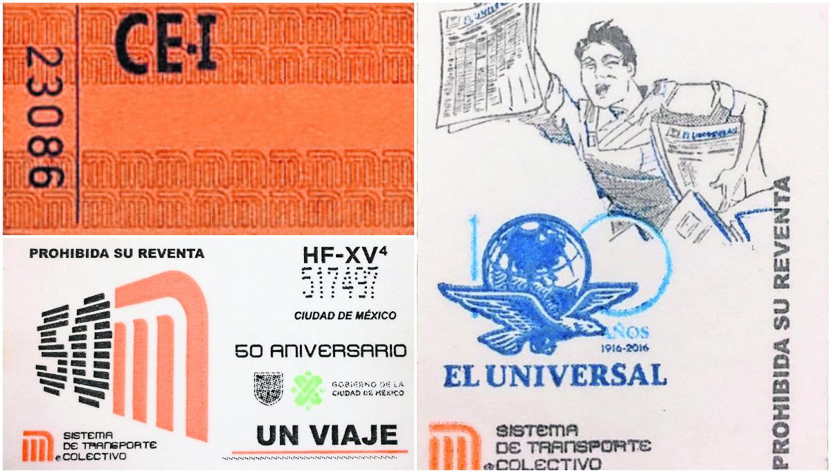 boletos historia metro diseños aniversario 50 años
