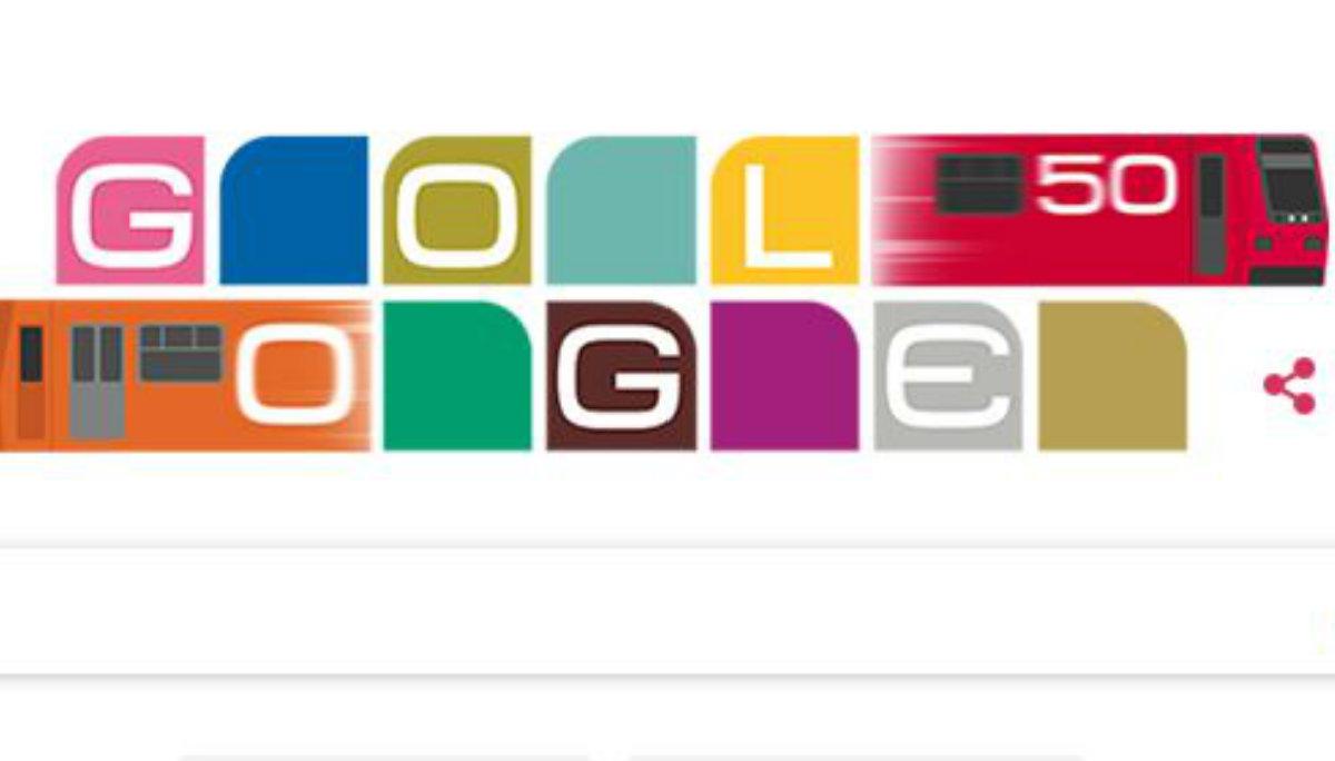 google doodle imagen buscador conmemorativo aniversario 50 años stc metro