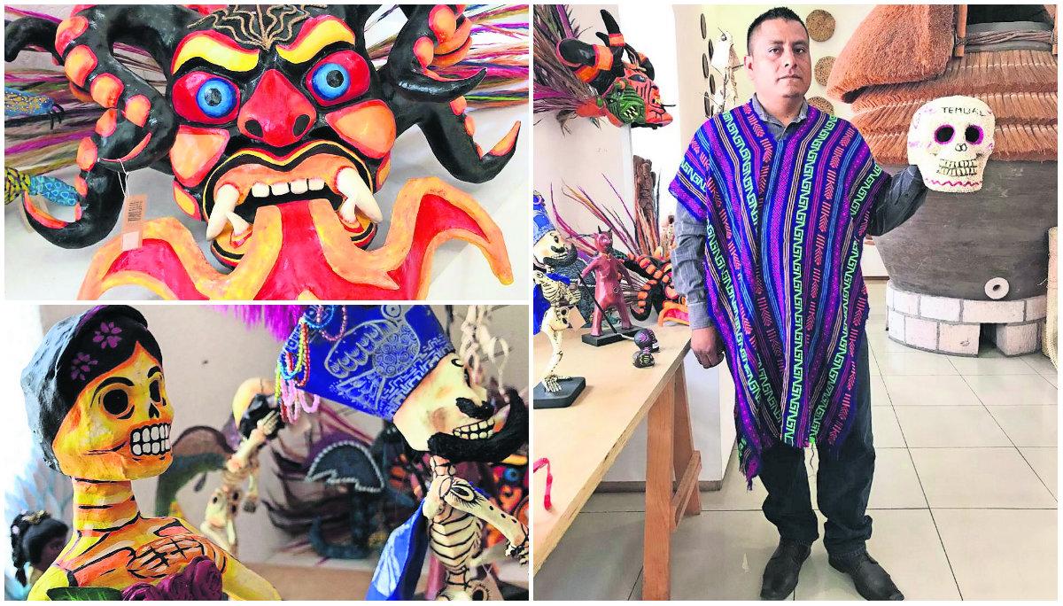 artesano marcos pablo ordónez tradicional cantonería semillas amaranto arte novedoso día de muertos