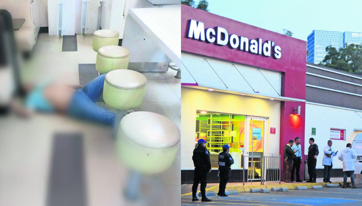 Pistoleros acribillan a hombre en restaurante de McDonalds en alcaldía Miguel Hidalgo
