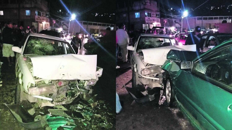 Carretera Santa María del Monte accidente