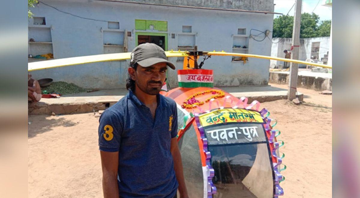 helicóptero basura india