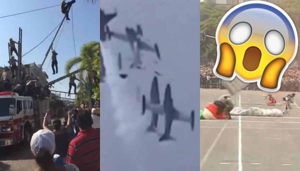 accidentes desfile militar independencia de méxico cdmx