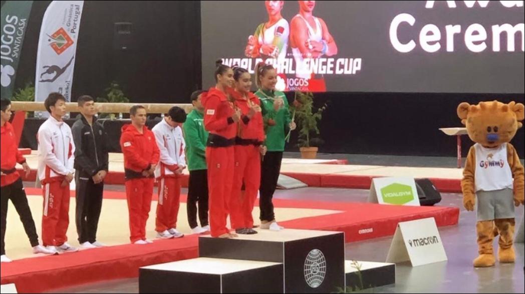 Mexicanos ganan medallas en Copa del Mundo de Gimnasia