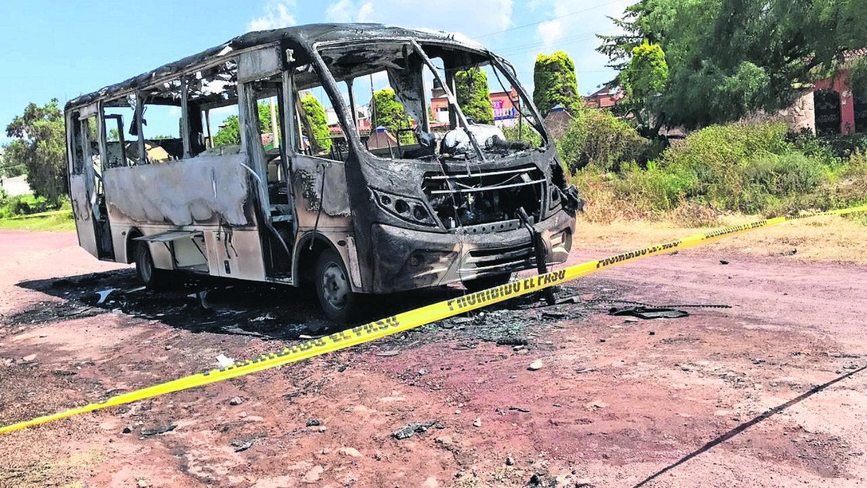 presuntos extorsionadores edomex queman camión