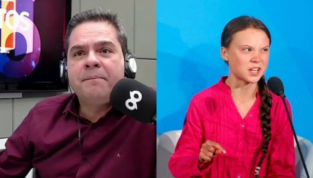 Locutor brasileño Greta Thunberg
