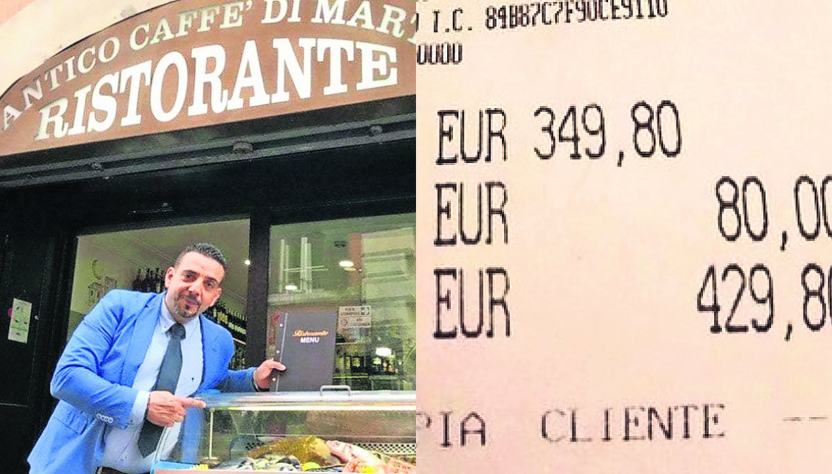 estafan turistas japonesas ticket cuenta excesiva cobros caros restaurante antico caffe di marte roma