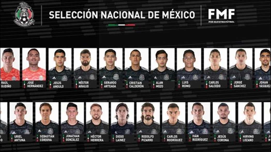 Revelan la convocatoria de la Selección Mexicana para la Liga de Naciones de la Concacaf