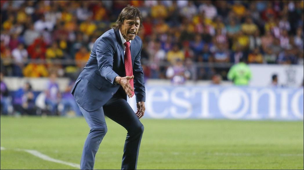 El argentino durante un partido en la Liga MX