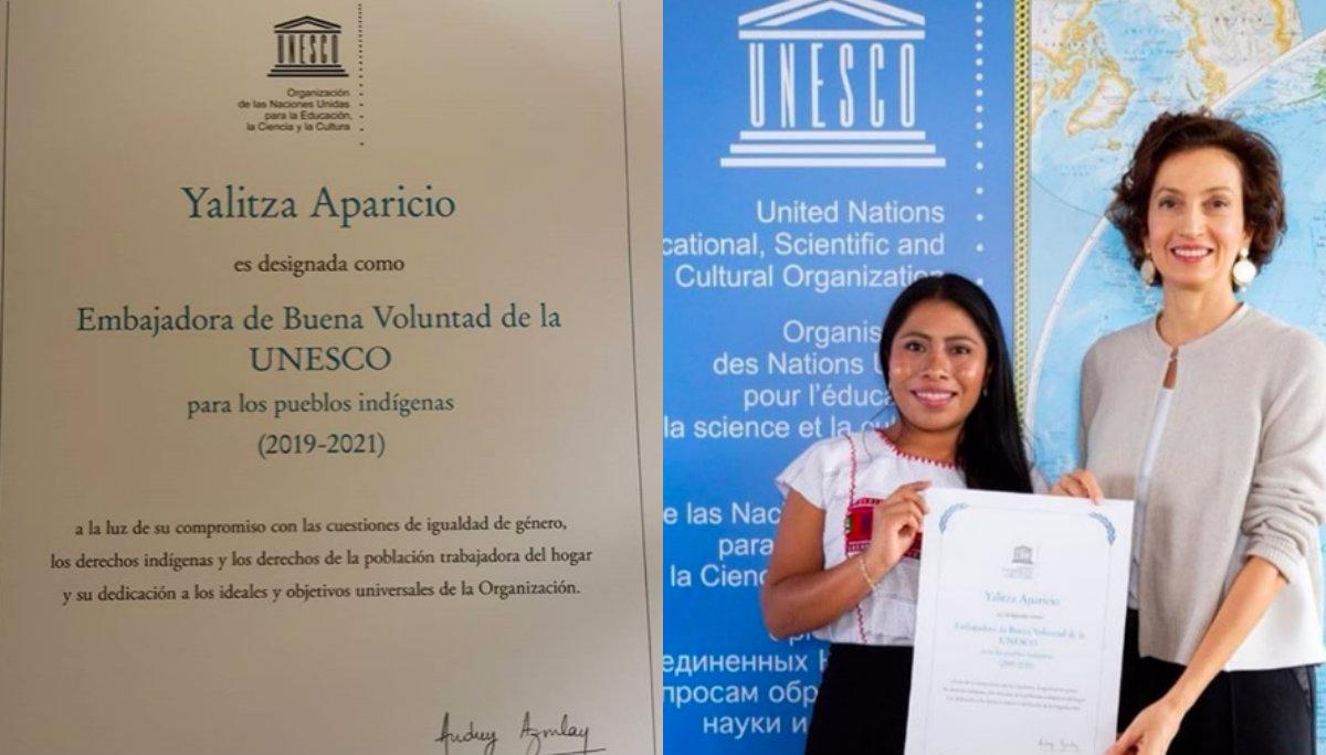 yalitza aparicio embajadora buena voluntad unesco gobierno mexico