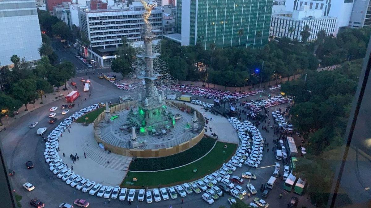 retiran bloqueo taxistas acuerdo autoridades cdmx