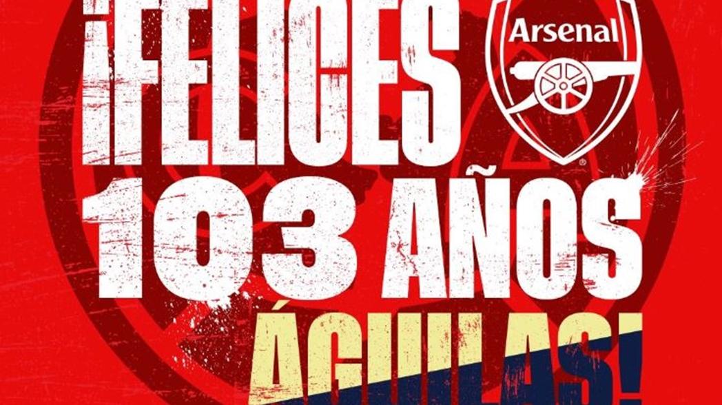 La felicitación del Arsenal a las Águilas