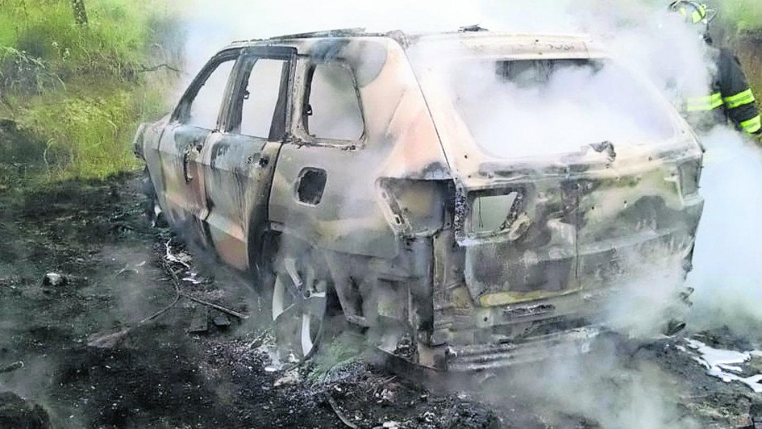 auto en llamas toluca