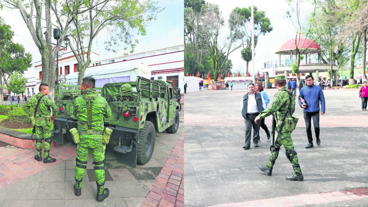 Zinacantepec incrementan robos presencia militar