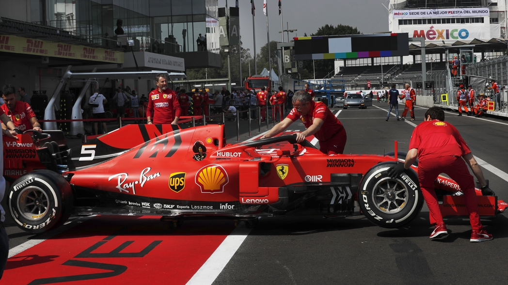 El auto de Ferrari en el AHR