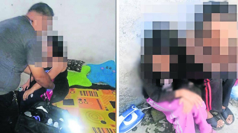 mujer niños rescate