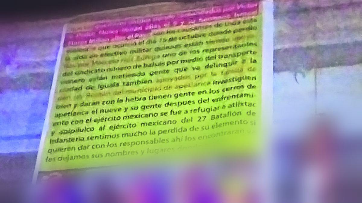 ejecutado colgado criminales narcomensaje narcomanta cadáver amenaza cocula guerrero