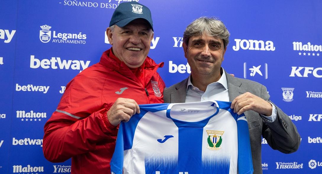 Javier Aguirre presentado con el Leganés