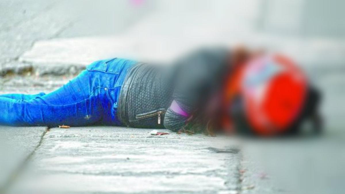 mujer motocisclista motoneta pierde el control choca muere casco ticomán