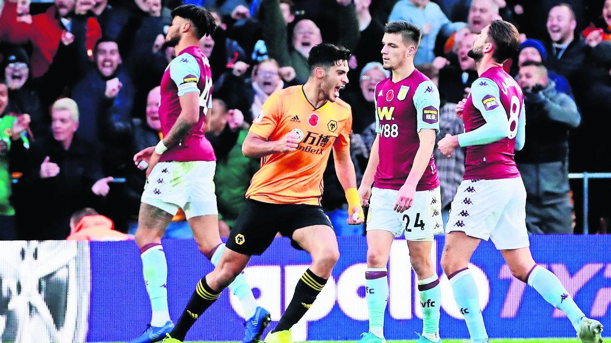 ¡Matador! Raúl Jiménez anota y le da el triunfo a los Wolves sobre Aston Villa