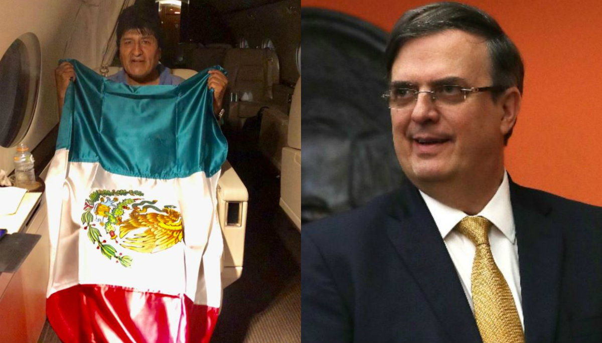 evo morales marcelo ebrard vuelo avión hora de llegada asilo político bolivia méxico