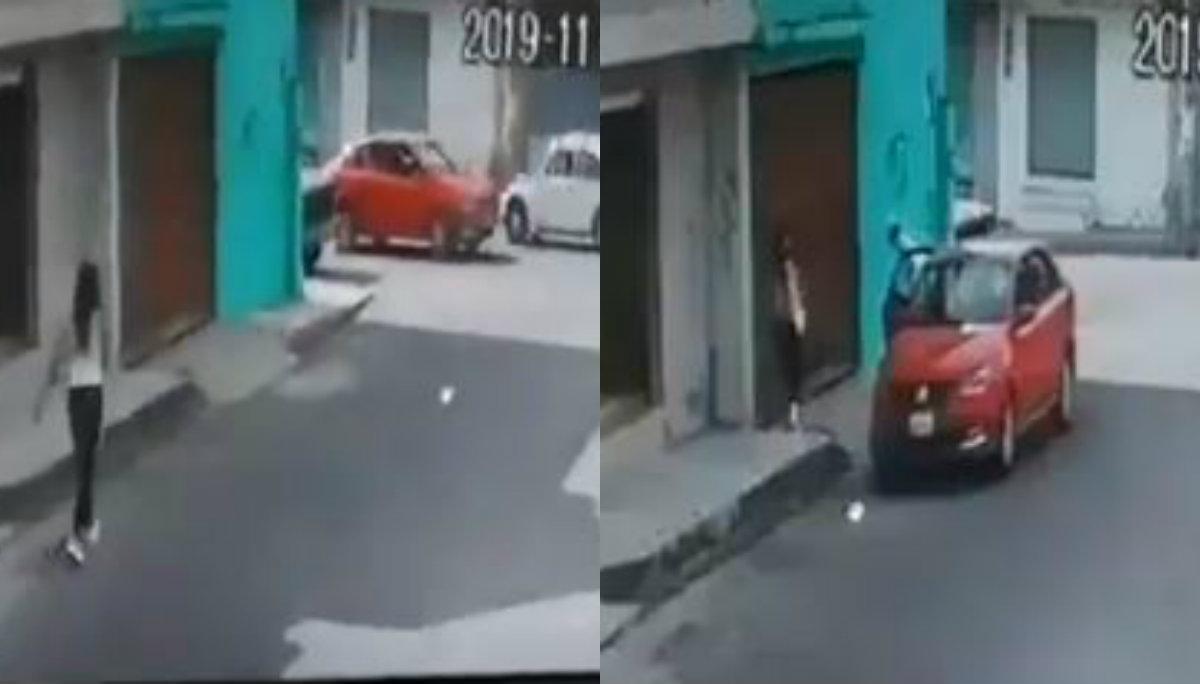joven libra secuestro cámara vigilancia video puebla