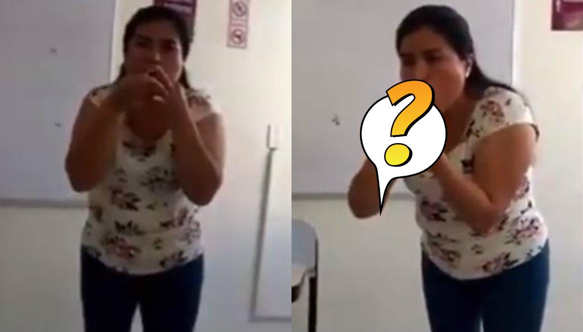 maestra pone condón con la boca enseña a sus alumnos secundaria video viral