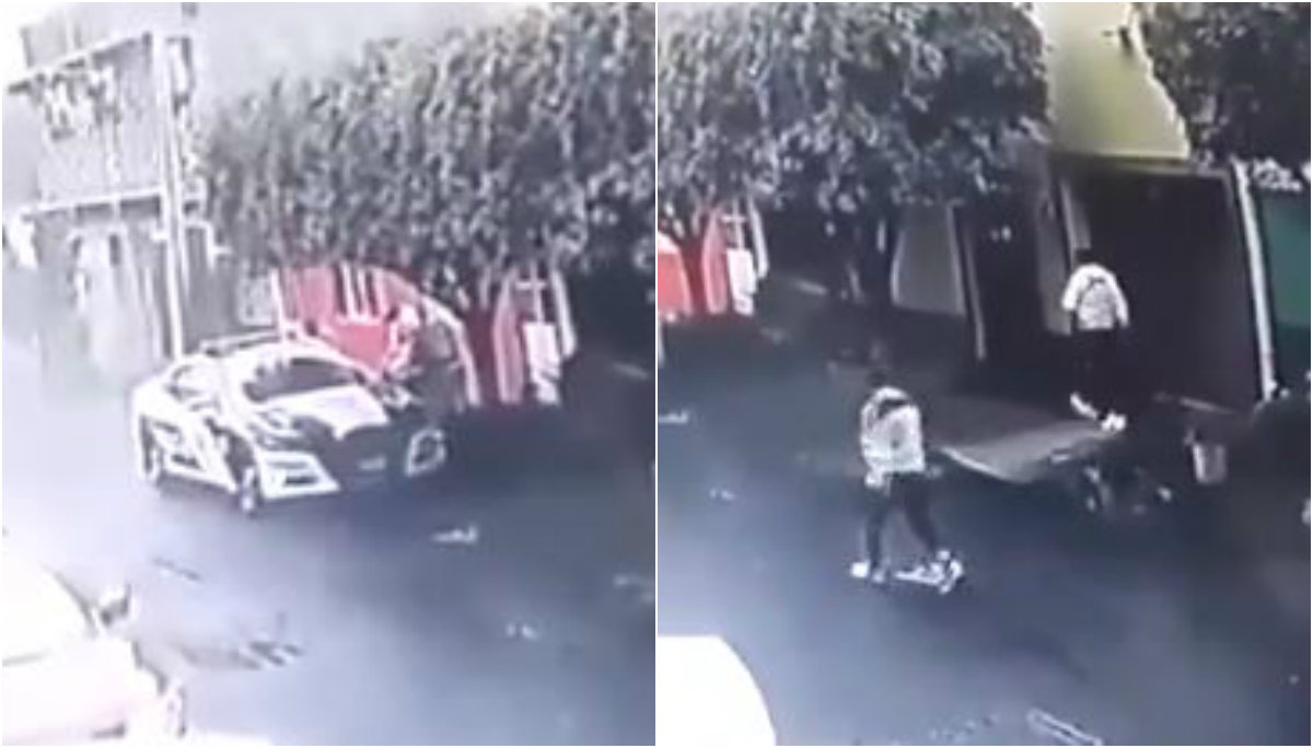 policía balacera muerto video iztapalapa
