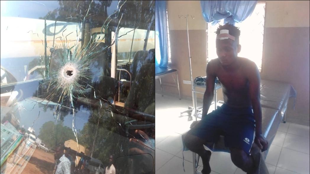 Autobús de club nigeriano es atacado a balazos